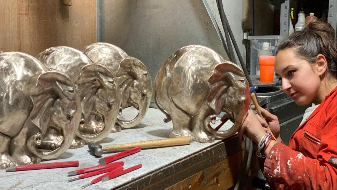 Hand Chasing Bronzes